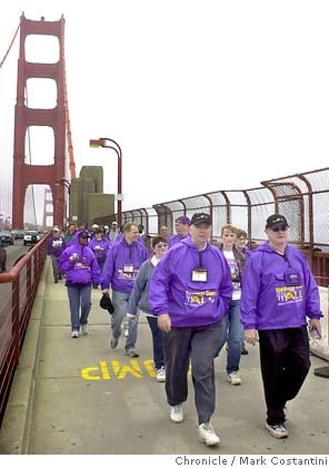 SEIU_054.JPG Photo taken on 6/20/04 in SAN FRANCISCO.  Labor groups and community activists march across Golden Gate Bridge as part of a nationwide push to highlight need for more affordable health care for all. Photo: Mark Costantini/SF Chronicle Photo: MARK COSTANTINI