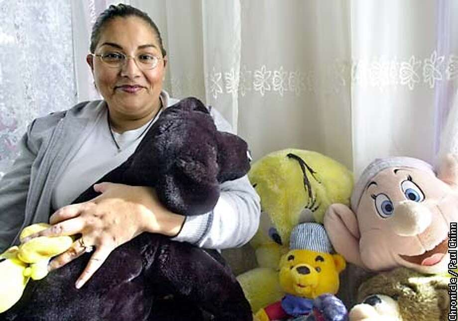 Patricia Santillan has a collection of stuffed animals in her San Francisco apartment. Santillan is a recipient in this year's Chronicle Season of Sharing campaign. PAUL CHINN/S.F. CHRONICLE Photo: PAUL CHINN
