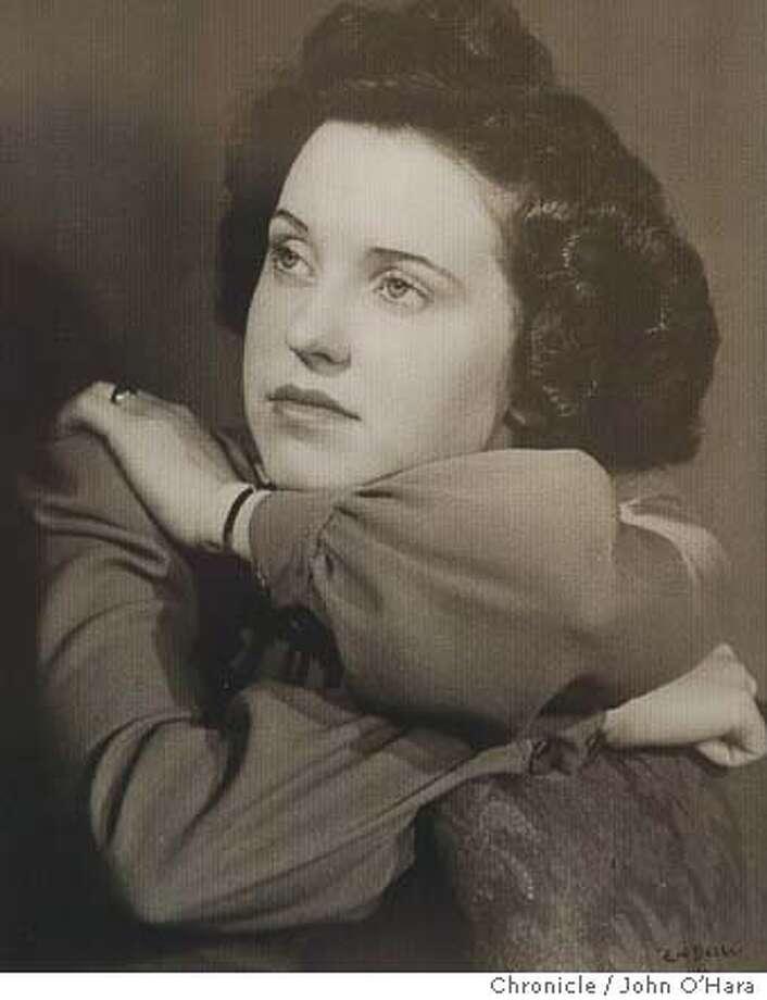3477 WESTMNINSTER WAY , NAPA,CA  COPY PHOTO when Eileen ROach was 22, in Virginia  EILEEN ROACH, a Cryptograhic encoder during WWII. Also workd for FBI in San Francisco. Husband , Morton. photo/John O'Hara Photo: John O'Hara