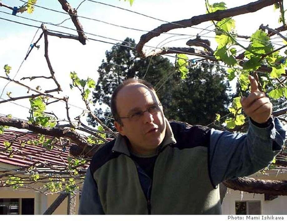 Former Napa Valley winemaker Bruce Gutlove, 42, now makes wine in Ashikaga, Japan, and teaches mentally disabled students at Cocoromi Gakuen school how to grow the grapes.  Photo: Mami Ishikawa