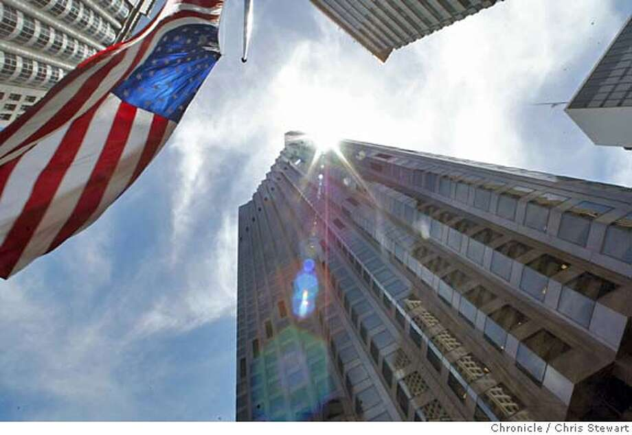 Event on 6/15/04 in San Francisco.  The landmark Bank of America tower in San Francisco is changing hands. The building is on bounded by Montgomery, Califorina, Kearney and Pine streets. Chris Stewart / The Chronicle Photo: Chris Stewart