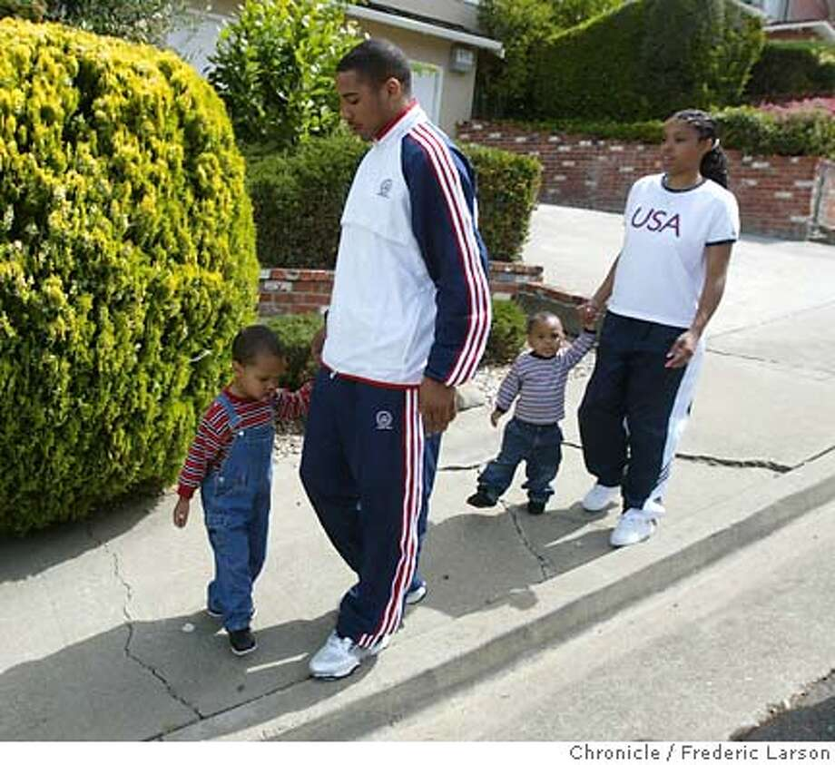 ; Andre Ward Olympic boxer from Oakland trains many hours a day then share duties as a family man with his wife Tiffiney (20) and their two sons Andre Jr. (3), Malachi (1). 5/27/04  San Francisco Chronicle Frederic Larson Photo: Frederic Larson