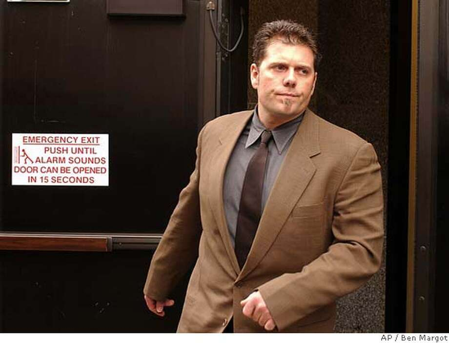 Greg Anderson, personal trainer to San Francisco Giants' Barry Bonds, leaves a federal courthouse Friday, Feb. 13, 2004, in San Francisco. Anderson is one of four men charged Thursday, Feb. 12, 2004, in a 42-count indictment alleging they ran a steroid-distribution ring that provided performance-enhancing drugs to dozens of athletes in the NFL, major league baseball and track and field. During a hearing here Friday all four pleaded innocent before Federal Magistrate Judge Maria-Elena James. (AP Photo/Ben Margot) Greg Anderson, Barry Bonds' personal trainer since 1998. ProductName	Chronicle Greg Anderson had permission to travel to Arizona next week, but Barry Bonds' lawyer didn't think that was a good idea. Greg Anderson has permission to go to Arizona, but Barry Bonds' lawyer says the Giants' outfielder won't accompany Anderson. Greg Anderson has permission to go to Arizona, but Barry Bonds' lawyer says the Giants' outfielder won't accompany Anderson. Photo: BEN MARGOT