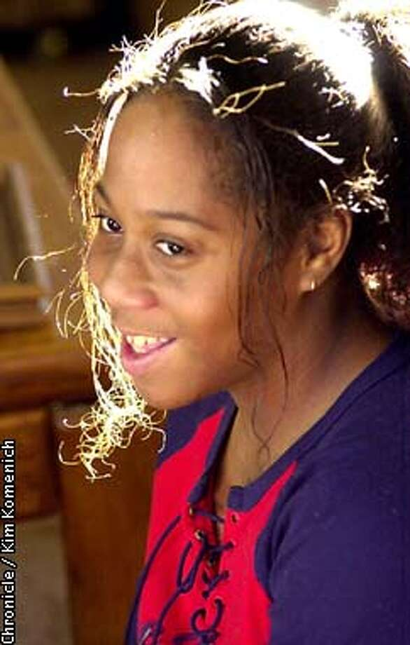 Cheynikka Robertson-Laupua, 12, is a Santa Rosa girl who has cerebral palsy. She was born three months premature. She and her mother Nichole Robertson recently moved into an apartment after living in shelters in the Santa Rosa area.  CHRONICLE PHOTO BY KIM KOMENICH Photo: KIM KOMENICH