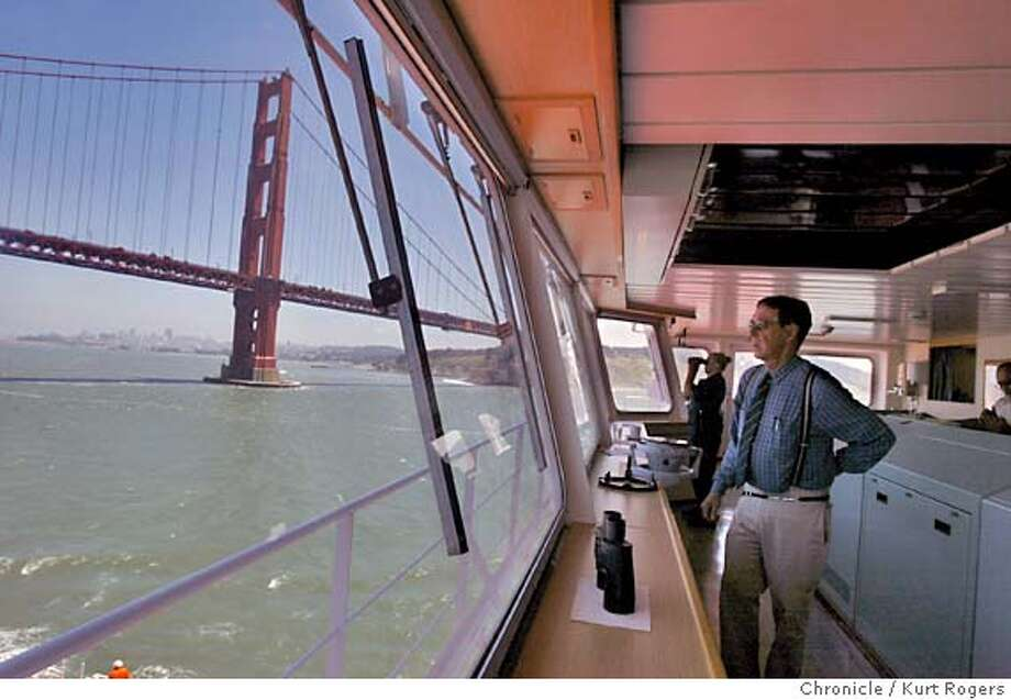 the Bridge on the Iver Progress as it passes under the Golden Gate Pilot Peter Crowell in charge.  sea marshals which is a coast guard program to inspect commercial ships entering sf bay. Most are container ships with hundreds of containers from overseas. 6/3/04 in San Francisco,CA.  Kurt Rogers/The Chronicle Photo: Kurt Rogers