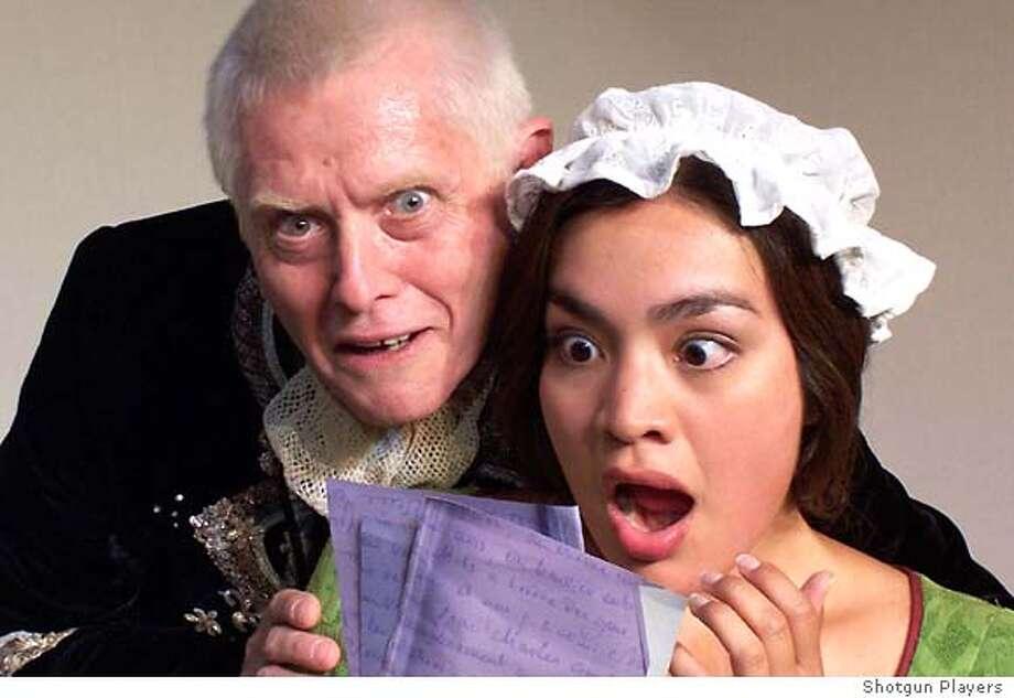 QUILLS12  Richard Louis James (Stanislavsky in The Death of Meyerhold) as the Marquis Lisa Jenai Hernandez as Madeline