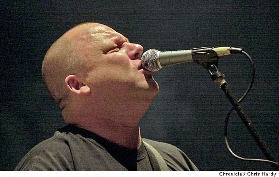 Pixies01_069_ch.JPG  Lead singer Frank Black.  The Pixies in their first area gig in a long time is on UC Davis campus.  at Davis,CA on 4/29/04  San Francisco Chronicle/Chris Hardy Ran on: 06-13-2004  The reunited Pixies, featuring lead singer Frank Black, will perform in August at the Greek Theatre in Berkeley. Photo: Chris Hardy