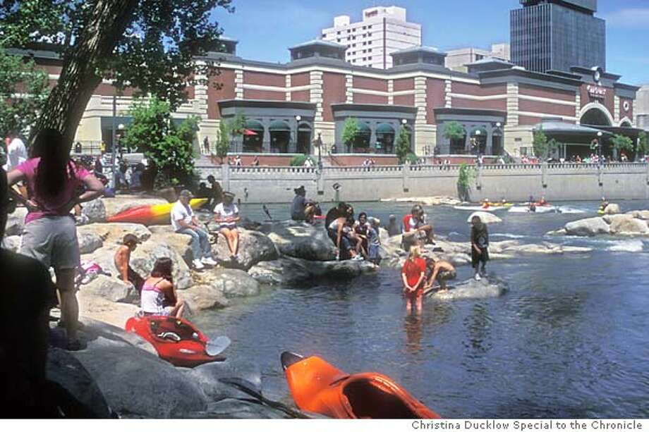 Reno's new Truckee River Whitewater Park on 6/9/04 in San Francisco. Christina Ducklow / HO Photo: Christina Ducklow