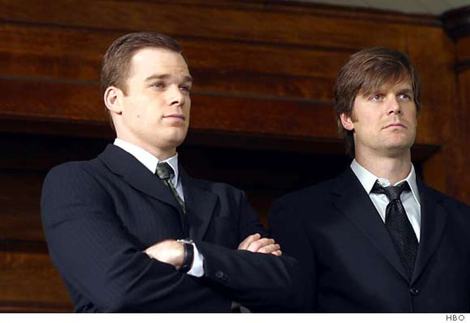 GOODMAN11  Michael C. Hall, Peter Krause in Six Feet Under.
