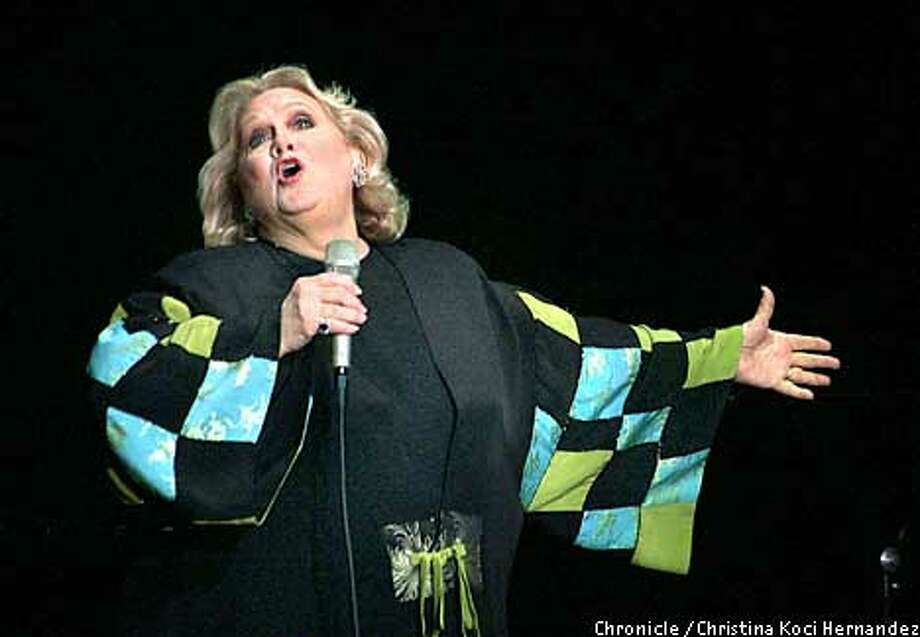 """CHRISTINA KOCI HERNANDEZ/CHRONICLE  """"Mostly Sondhein"""" Barbara Cook's solo show at the Curran Theater."""