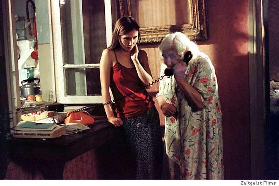 OTAR11  Dinara Droukarova as Ada (left) and Esther Gorintin as Eka in Since Otar Left...
