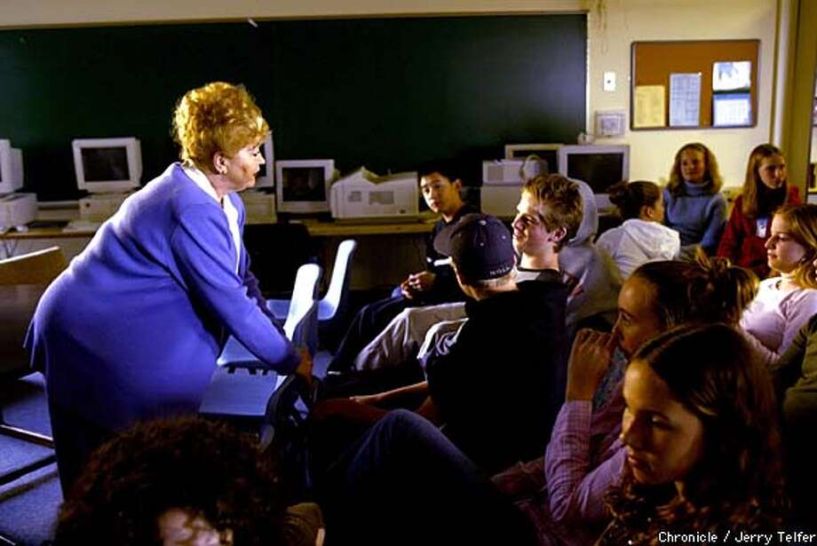 Gloria Lyon has been telling her story to students since 1977. Chronicle photo by Jerry Telfer