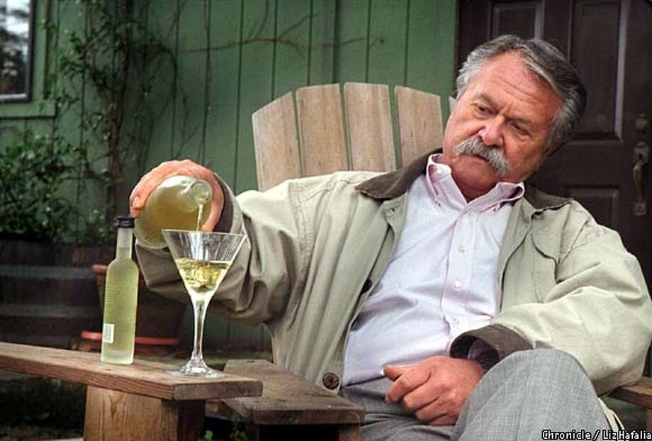 Miles Karakasevic enjoys his Domaine Charbay Key Lime vodka neat. Chronicle photo by Liz Hafalia