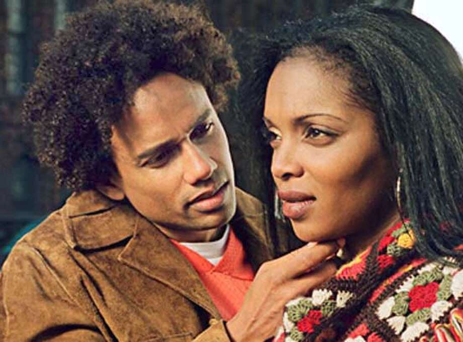 BLACKFILM08  Michael (Hill Harper) and Jasmine (Marlyne Afflack) in Love, Sex and Eating the Bones. Michael (Hill Harper) and Jasmine (Marlyne Afflack) in &quo;Love, Sex and Eating the Bones,&quo; one of the films in the San Francisco Black Film Festival.