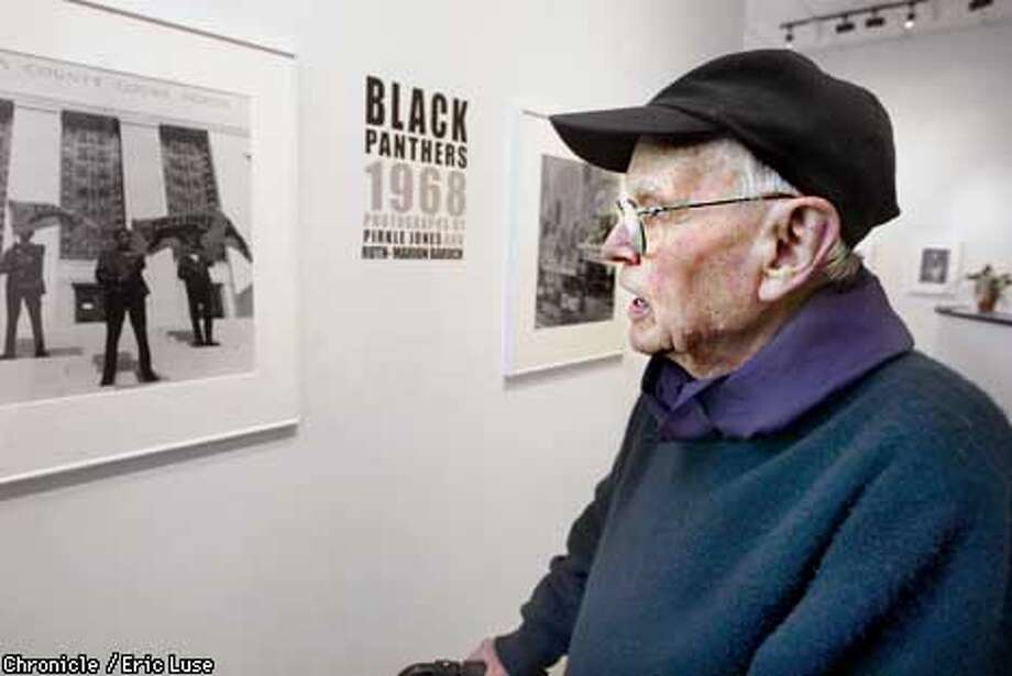 Photographer Pirkle Jones has a show at Shapiro Gallery from his days photographing the Black Panthers.  BY ERIC LUSE/THE CHRONICLE Photo: ERIC LUSE