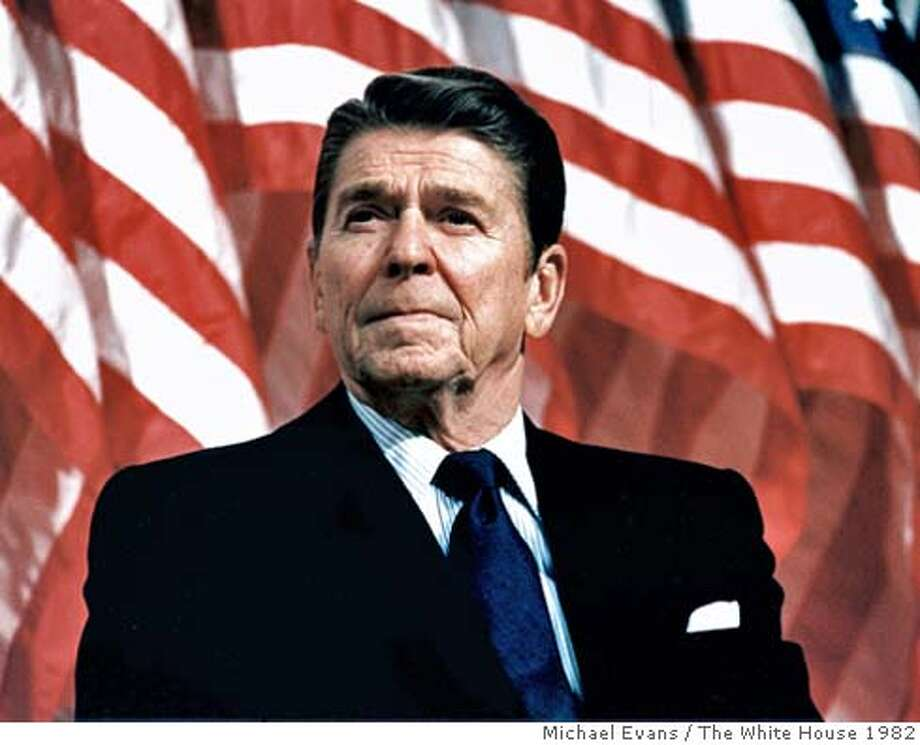 UNDATED: (FILE PHOTO) Former U.S. President Ronald Reagan speaks at a rally for Senator Durenberger February 8, 1982. Reagan turns 92 on February 6, 2003. (Photo by Michael Evans/The White House/Getty Images) Photo: Getty Images