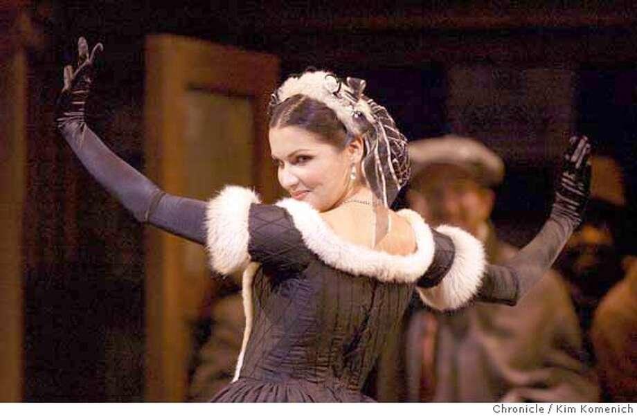 """SF Opera begins summer season with Puccini's """"La Boheme"""" In Act 2, the solo by Musetta (Anna Netrebko.)  Photo by Kim Komenich in San Francisco. Photo: Kim Komenich"""