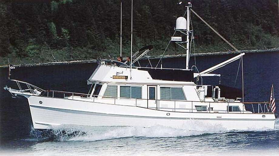 Even a 3-year-old model of the Grand Banks GB42, which has a spacious teak interior, would sell for approximately $500,000
