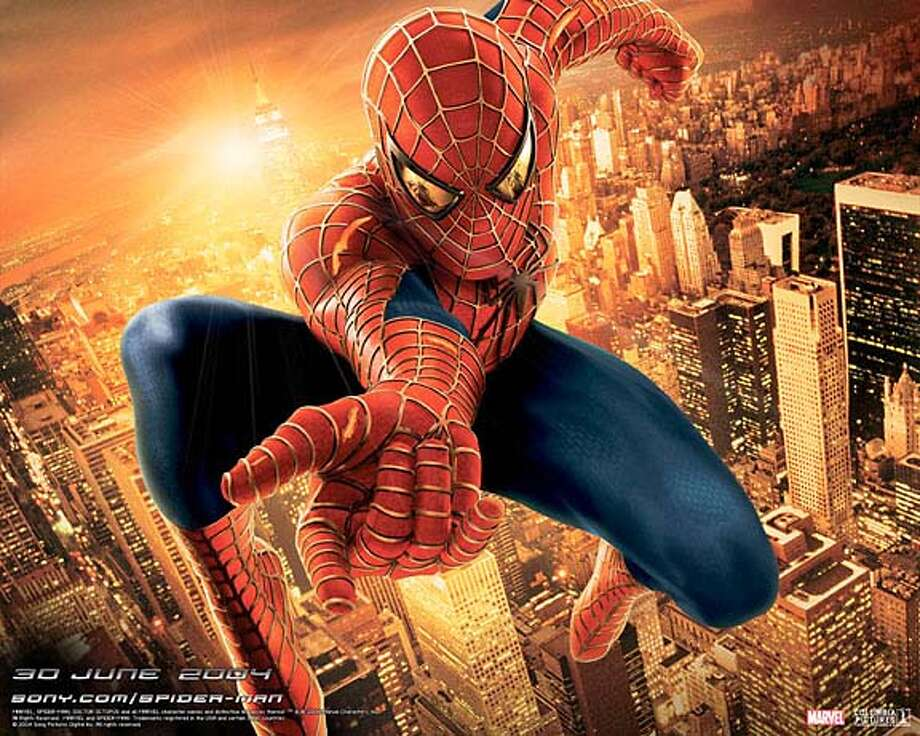 """""""Spider-Man 2"""" stars Tobey Maguire in the title role."""