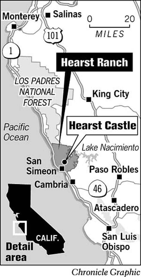 Hearst Ranch. Chronicle Graphic