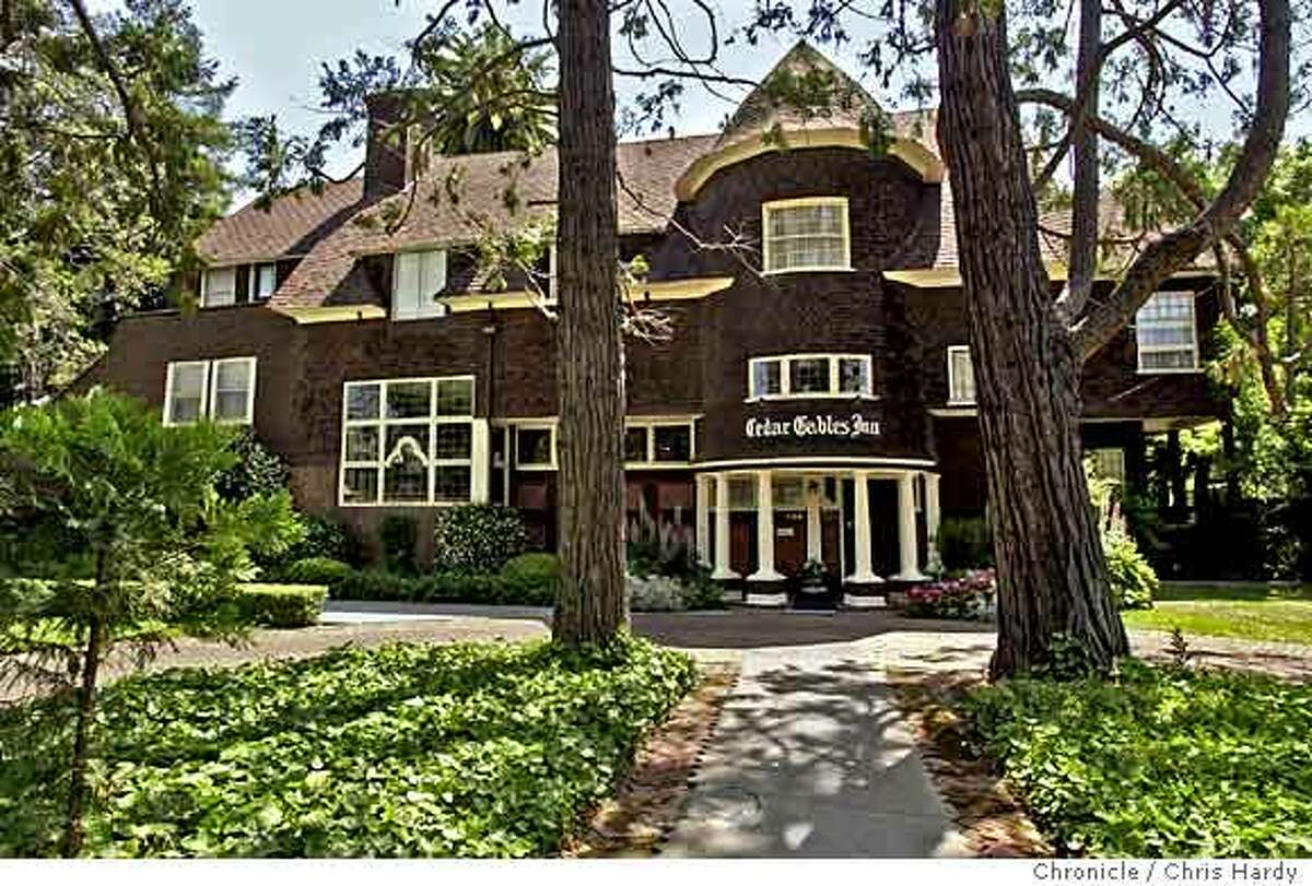 The Cedar Gables Inn in Napa has one of Coxhead's signature huge towers. Chronicle photo by Chris Hardy