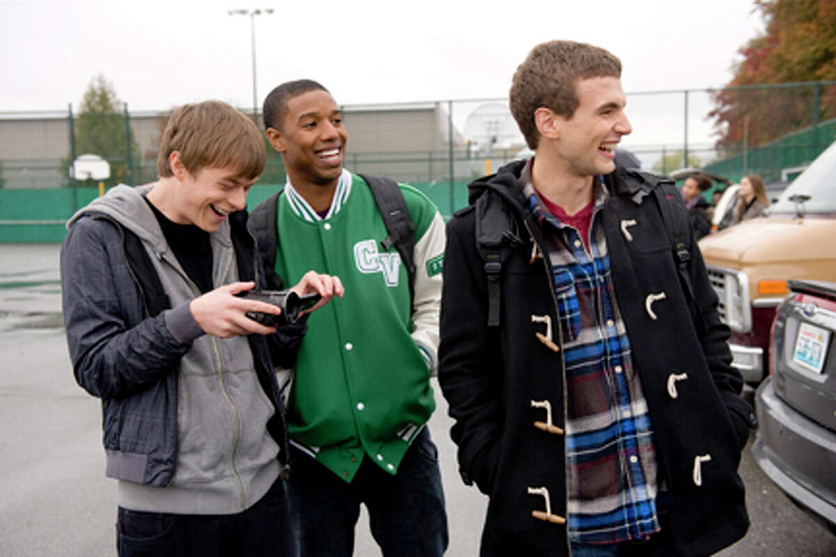 (L-R) Dane DeHaan as Andrew Detmer, Michael B. Jordan as Steve Montgomery and Alex Russell as Matt Garretty in