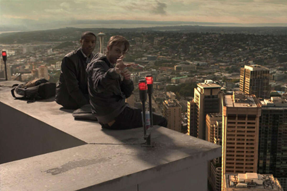 (L-R) Michael B. Jordan as Steve Montgomery and Dane DeHaan as Andrew Detmer in