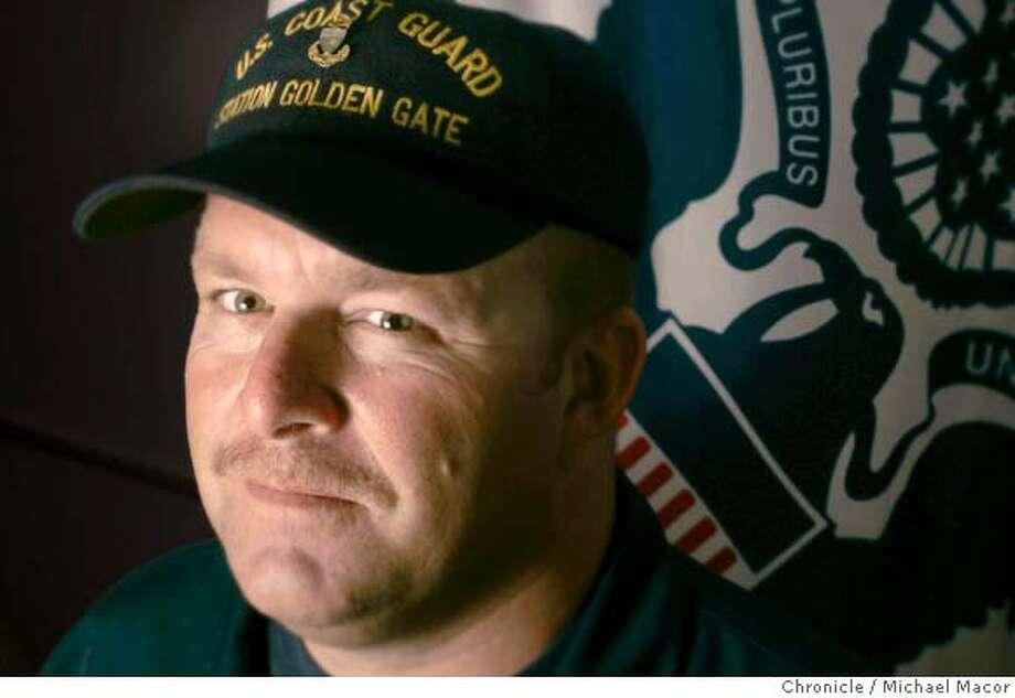Chief Petty Officer Steve Allen of the United States Coast Guard. Golden Gate Station that sees more action than any other in the West. on 8/21/04. Michael Macor / San Francisco Chronicle Photo: Michael Macor