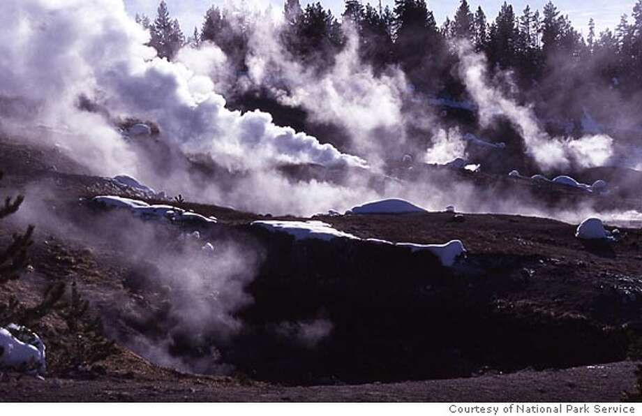 Photo of the Norris Geyser Basin. Photo courtesy of National Park Service Photo: National Park Service