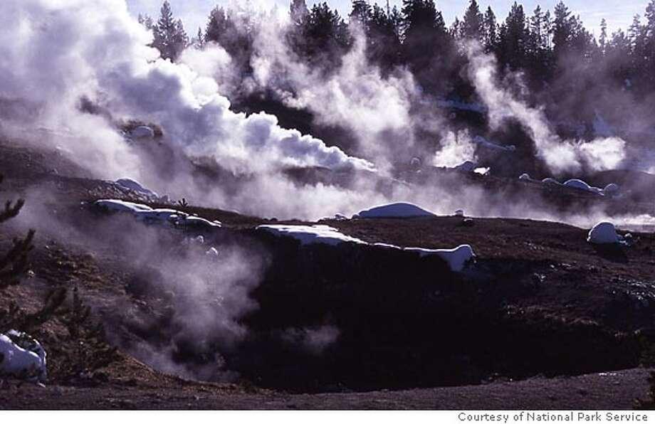 Photo of the Norris Geyser Basin. Photo courtesy of National Park Service Photo: National Park Service
