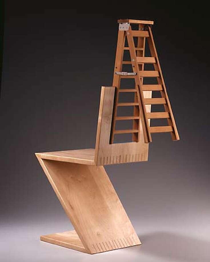 Garry Knox Bennett  Ladderback Chair Datebook#Datebook#SundayDateBook#10/17/2004#ALL#Advance##0422409282