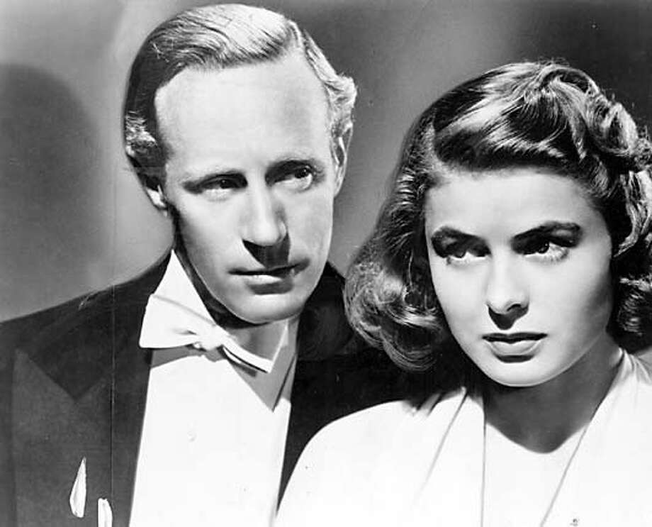 "Leslie Howard (left) and Ingrid Bergman in ""Intermezzo."" Datebook#Datebook#SundayDateBook#10/17/2004#ALL#Advance#O1#0421324790"