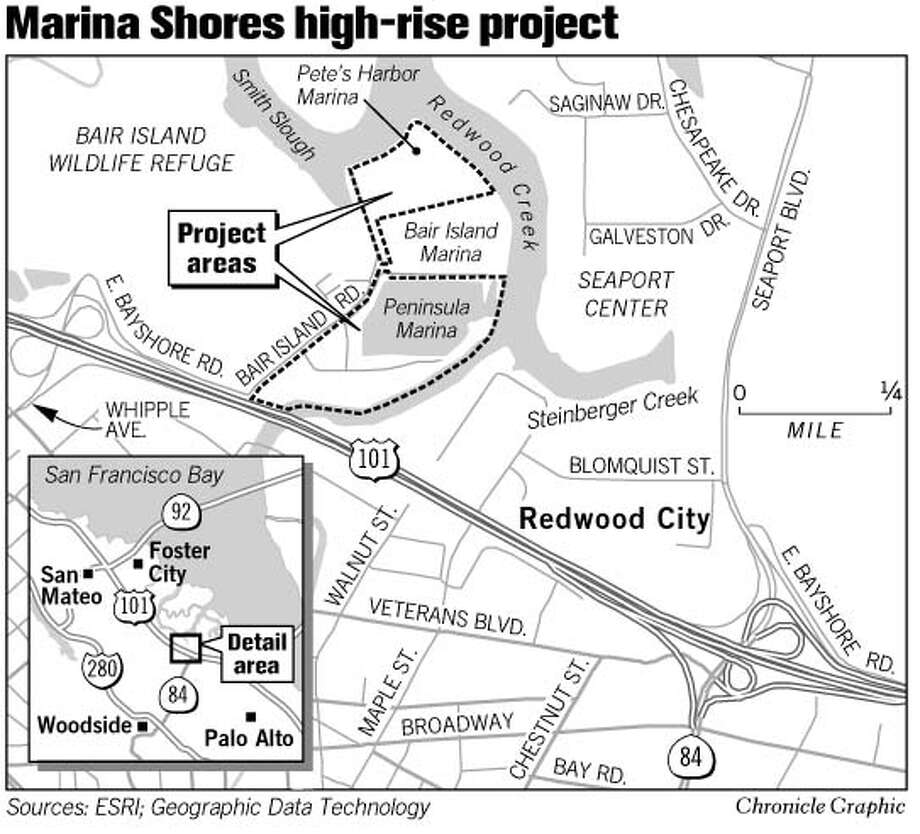 Marina Shores High-Rise Project. Chronicle Graphic