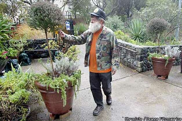 Jerry Morissette, the caretaker at the rest stop on 280 in Hillsborough may have to leave his home in a trailer at the reststop and his volunteer job there. He has put in a beautiful zen garden, growing many species of plants.  CHRONICLE PHOTO BY DEANNE FITZMAURICE Photo: Deanne Fitzmaurice