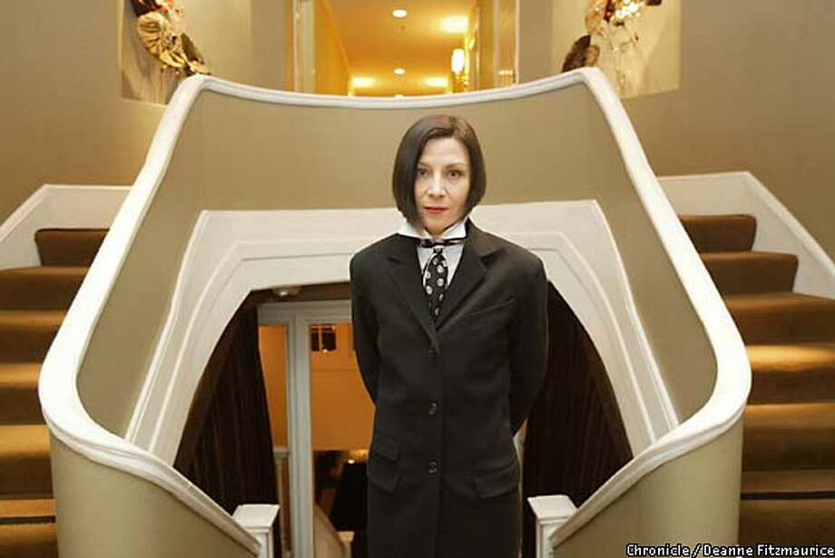 Scary: Chin-length bobs like that of author Donna Tartt give some men the shivers. Chronicle photo by Deanne Fitzmaurice