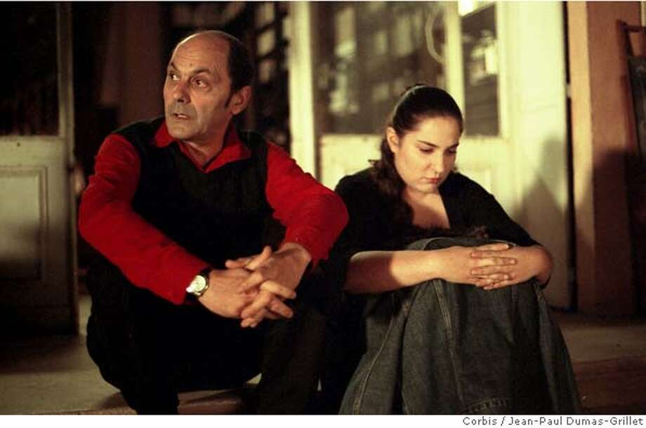 "LOOK08 L: Jean-Pierre Bacri as Etienne. R: Marilou Berry as Lolita in ""Look At Me."" CR: Jean-Paul Dumas-Grillet/Corbis"