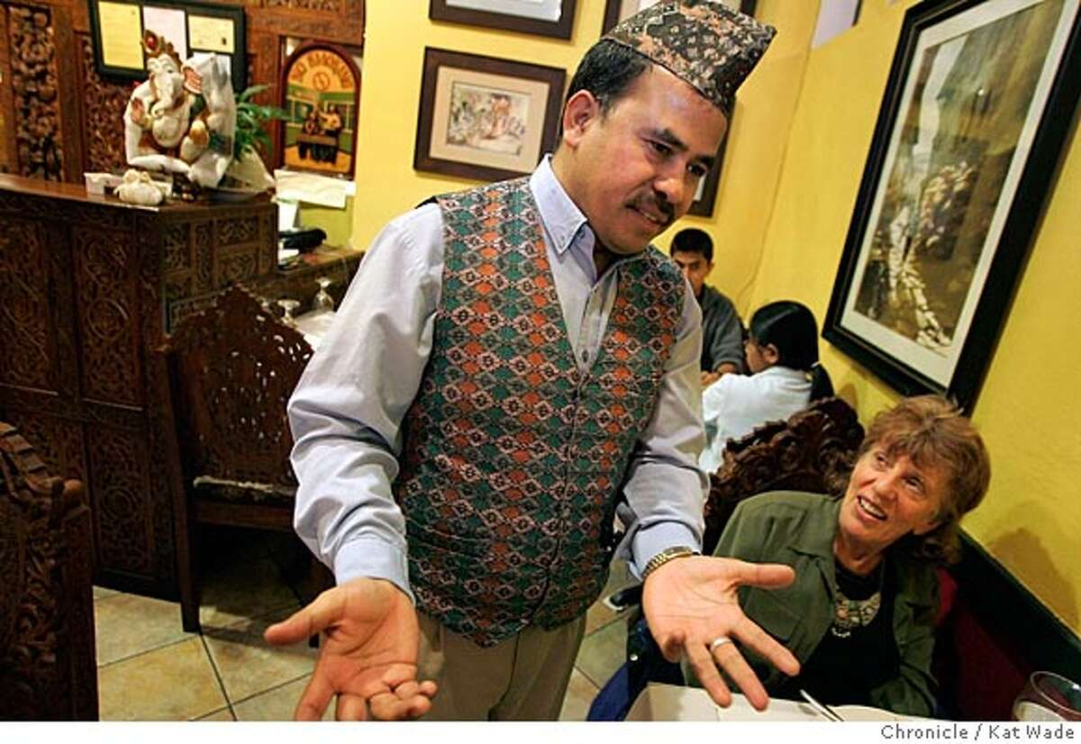 On 3/31/05 in Berkeley at the new Nepalese restaurant,