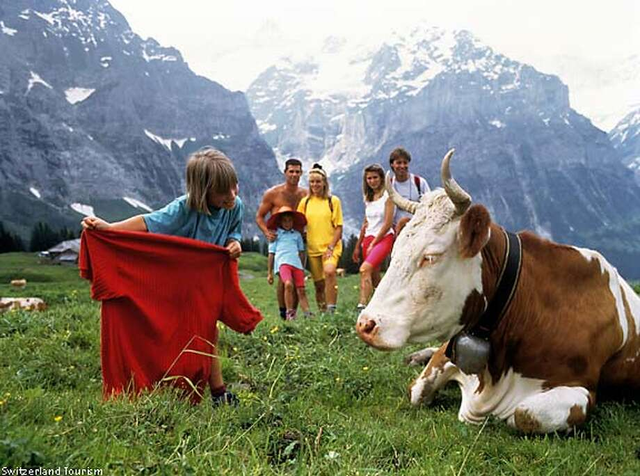 """Near Kandersteg, Switzerland:  """"While searching for an apartment in the lovely village of Kandersteg, Switzerland, we found the Adams Alpine Eden, owned by an English-speaking couple, Pam and Bill Adams.'' Photo courtesy of Switzerland Tourism"""