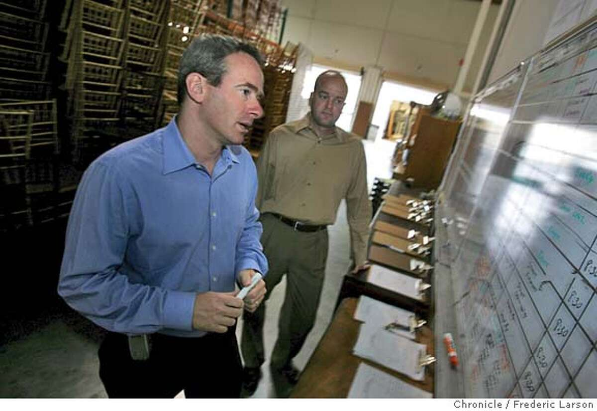 HEALTH_170_fl.jpg Michael Berman (left) and Andrew Sutton (Executive VP) of The Stuart Rental Company of Milpitas came to the realization that 100 employees healthy could kill their business. 9/29/04 Milpitas CA Frederic Larson The San Francisco Chronicle Business#Business#Chronicle#10/15/2004#ALL#5star##0422383454