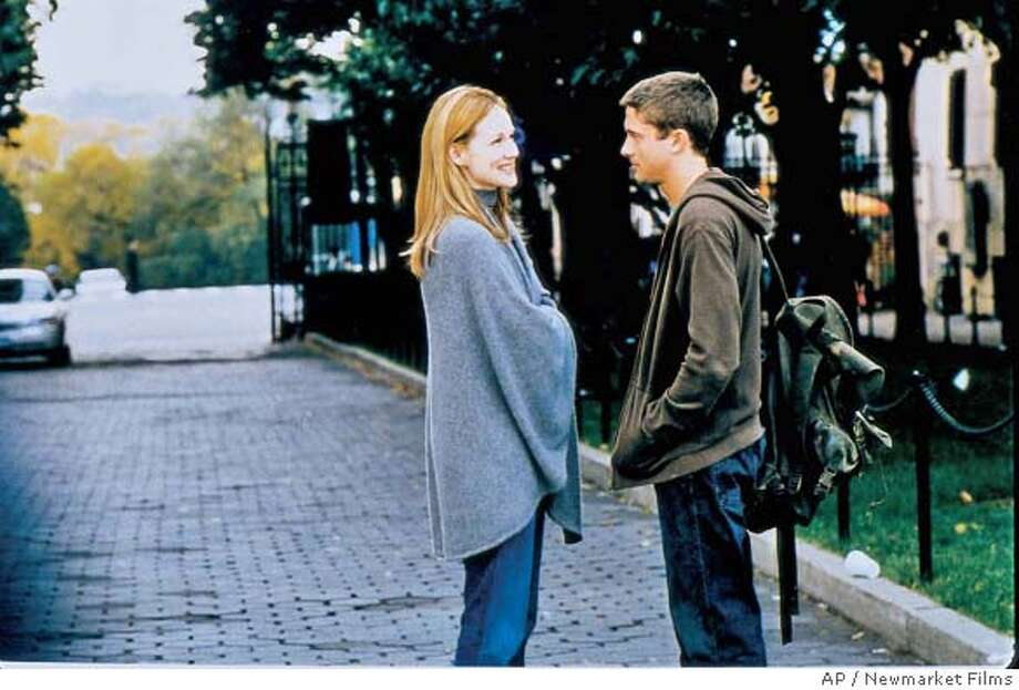"Years after her high school boyfriend's death, Louise Harrington (Laura Linney) is spooked when she encounters a man (Topher Grace) sharing the same name as - and similar appearance to - her former lover in ""P.S."" (AP Photo/Newmarket Films ) Datebook#Datebook#Chronicle#10/15/2004#ALL#5star##0422407298"
