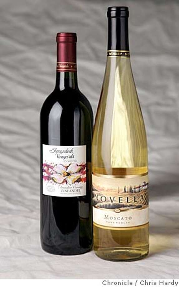 Bargain wines: 2003 Shenandoah Vineyards Amador county Zinfandel and 2002 Novella Paso Robles Moscato in San Francisco  3/31/05 Chris Hardy / San Francisco Chronicle Photo: Chris Hardy