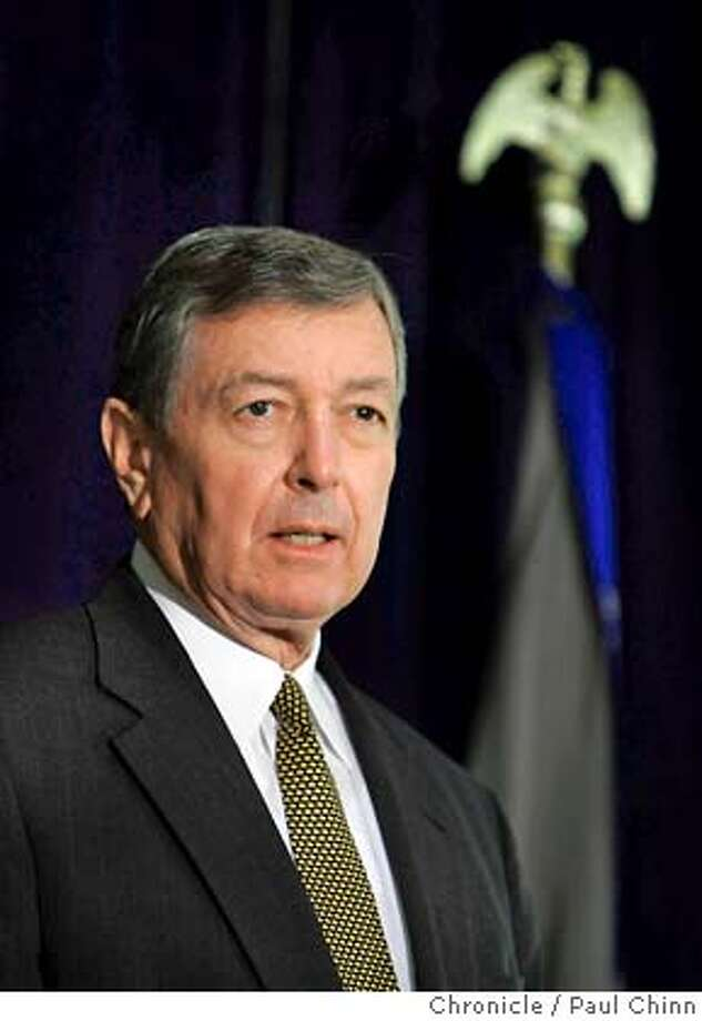 ashcroft14_034_pc.jpg US Attorney General John Ashcroft announced the release of a report by the Dept. of Justice Task Force on Intellectual Property at the Tech Museum on 10/13/04 in San Jose, CA. PAUL CHINN/The Chronicle MANDATORY CREDIT FOR PHOTOG AND S.F. CHRONICLE/ - MAGS OUT Business#Business#Chronicle#10/14/2004#ALL#5star##0422411310 Photo: PAUL CHINN