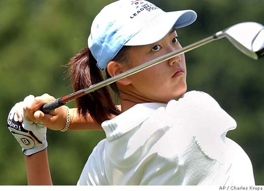 Michelle Wie of Honolulu watches her drive off the 11th hole during a practice round of the U.S. Women's Golf Open at The Orchards in South Hadley, Mass., Tuesday June 29, 2004. (AP Photo/Charles Krupa) Ran on: 06-30-2004  Santiago Calatrava's new Sundial Bridge in Redding Ran on: 06-30-2004  Santiago Calatrava's new sundial suspension bridge Sports#Sports#Chronicle#10/14/2004#ALL#5star##0422171850 Photo: CHARLES KRUPA
