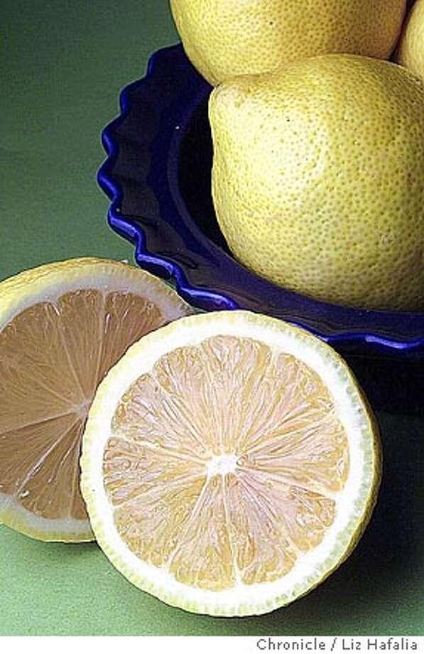 LEMON3-C-12NOV01-FD-LH--Eureka lemons. (PHOTOGRAPHED BY LIZ HAFALIA/THE SAN FRANCISCO CHRONICLE) CAT Photo: LIZ HAFALIA