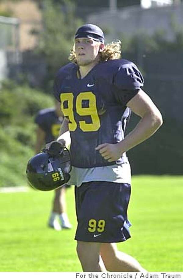 Cal Football long snapper L.P. Ladouceur at practice August 27, 2004. Photo by Adam Traum Photo: Adam Traum