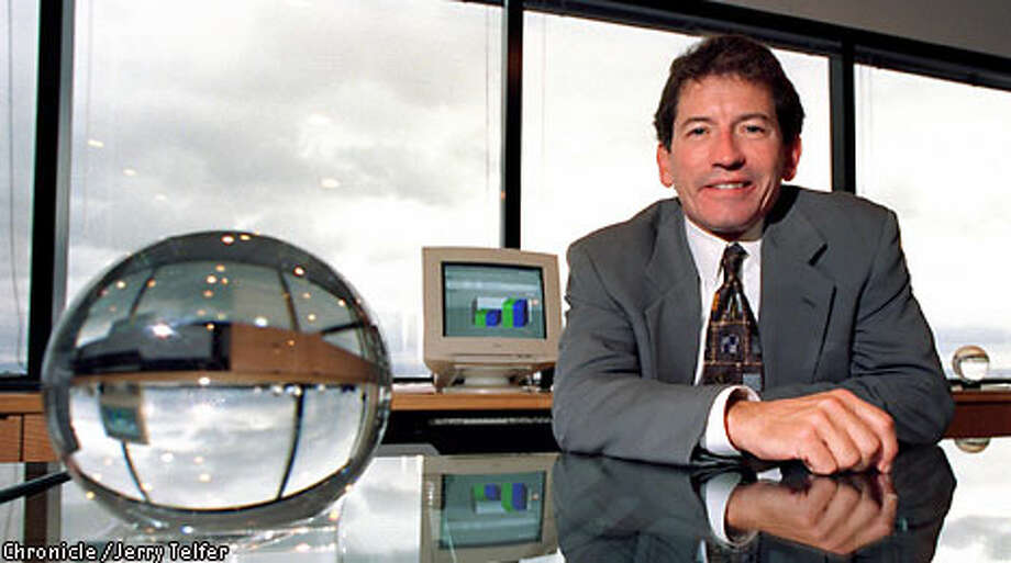 Tom Siebel, CEO of Siebel Systems, is expected to see more software sales later in the year. Chronicle photo, 1997, by Jerry Telfer