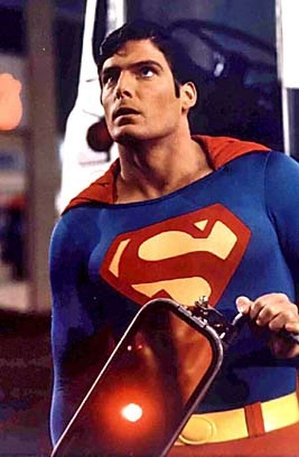 """""""Superman"""" actor Christopher Reeve, paralyzed when he fell from a horse in 1995, died in a New York hospital of heart failure October 10, 2004, his publicist said on October 11. Reeve is shown as he portrays Superman in one of the """"Superman"""" films in this undated file photograph. Reeve, 52, went into a coma on October 9, when he suffered a heart attack during treatment for an infected pressure wound and died in the afternoon October 10, publicist Wesley Combs told reporters. REUTERS/Warner Bros. Studios/Handout 0 Metro#MainNews#Chronicle#10/12/2004#ALL#5star##0422407468 Photo: HO"""