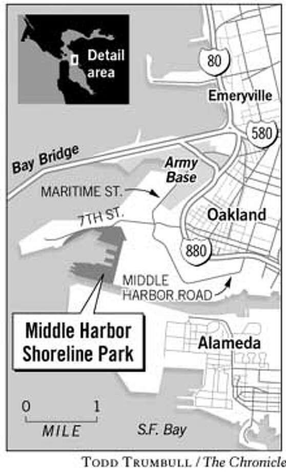 Middle Harbor Shoreline Park. Chronicle graphic by Todd Trumbull