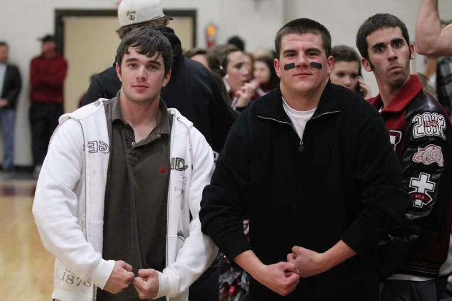 Some of Jasper's faithful fans at the Jasper basketball games. Photo: Jason Dunn