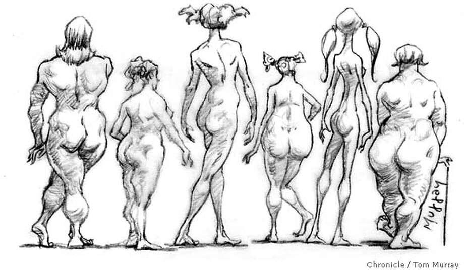 women, nudes, shapes Photo: Tom Murray